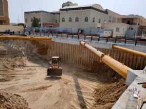 Under construction site of Hindu Temple in Dubai