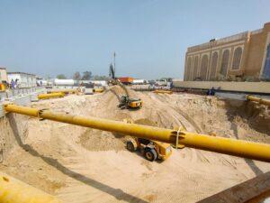 Construction site of Hindu Temple in Dubai