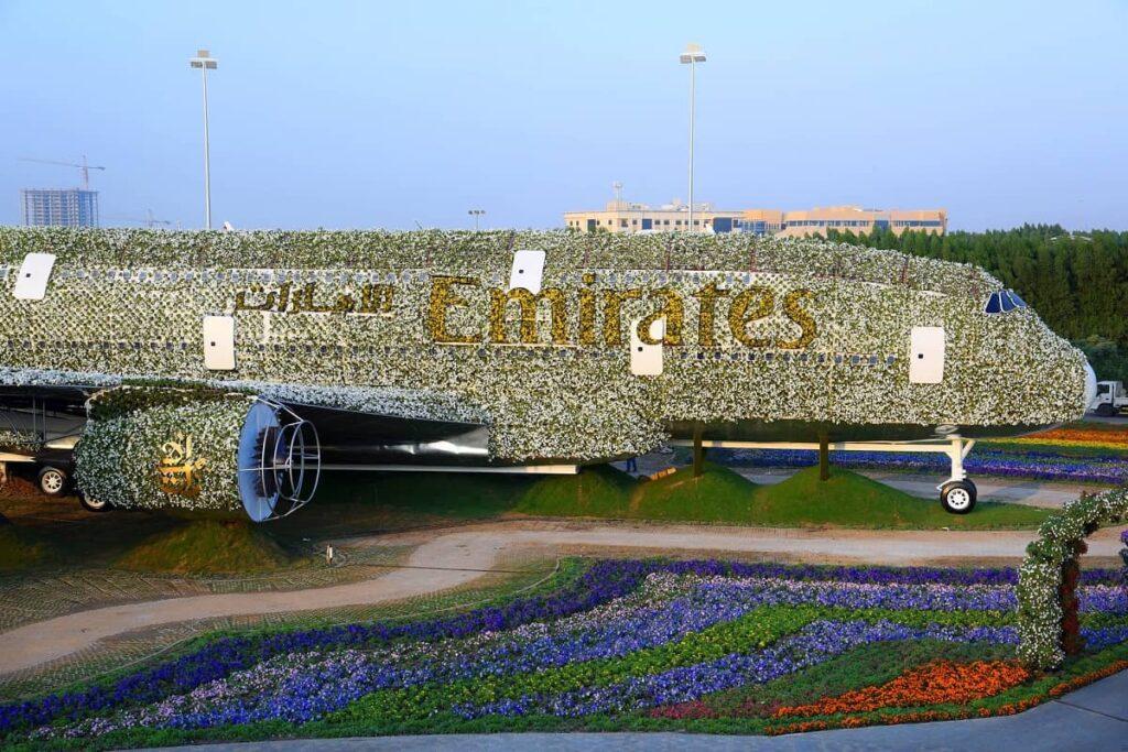 Life-size Emirates A380